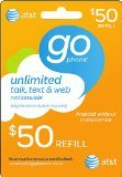 AT&T $50 Prepaid GoPhone Refill Card (Mail delivery)
