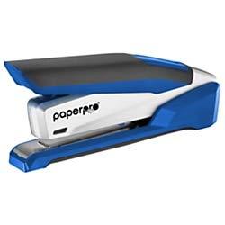 PaperPro inPOWER+28 Executive Stapler - 3 in 1 Stapler - One Finger, No Effort, Spring Powered Stapler, Blue/Silver (1118)