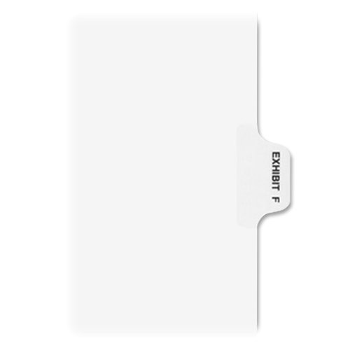 Wholesale Avery Individual Legal Dividers, Letter Size, Exhibit F (1376) free shipping