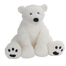Animal Alley 15.5 inch Polar Bear - White by Unknown