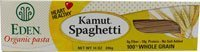 Eden Kamut Spaghetti 100% - 14 Ounces (Organic Whole Wheat Spaghetti)
