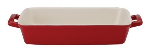 HIC Ceramic 13-Inch Lasagna Pan, Rose