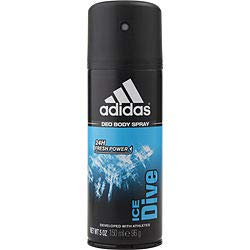 ADIDAS ICE DIVE by Adidas (MEN) ADIDAS ICE DIVE-24H DEODORANT BODY SPRAY 5 OZ (DEVELOPED WITH ATHLETES)