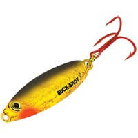 Northland Tackle BRS6-93 Buck-Shot Rattle Spoon Bait, Super-Glow Redfish, 1/2 oz ()