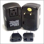 VCT VX-50 Compact 50 Watt Worldwide Travel Step Up Down Voltage Converter with 3 Adapters for 110V 220V 240V
