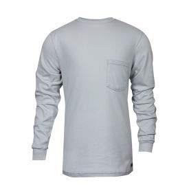 National Safety Apparel FR Classic Cotton Long Sleeve T-Shirt, XL, Gray, C54PGLSXL (C54PGLSXL)