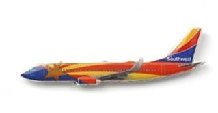 Southwest Airlines Swa Arizona One Collector Edition Brass Lapel Boeing 737 Pin