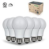 Thinklux LED A19 Light Bulb, 9W (60W Equal), 3000K (Warm White), Dimmable (Pack of 6)