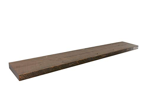 - Joel's Antiques & Reclaimed Decor Floating Shelf, Rustic Shelves, Wood Shelf, Pine, Dishes, Books, Open Shelving, Heavy Duty, 60