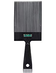 Top Comb - Scalpmaster Flat Top Comb with Level Flattopper with Sideburn Comb