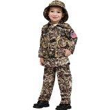 Fun World Costumes Baby Boy's Desert Commando Camo Toddler Costume, Green, Large