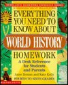 Everything You Need to Know about World History Homework, Kate Kelly and Anne M. Zeman, 0590493647