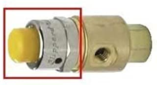 """product image for Clippard PC-1Y Captivated Push Button, Valve Stem Diameter 1/8"""", Yellow"""