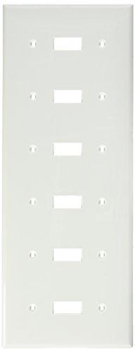 Leviton 80736-W 6-Gang Toggle Device Switch Wallplate, Thermoplastic Nylon, Device Mount, - 6 Plate Toggle Wall