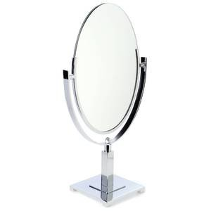 Parson Base Oval Mirror Double Sided Chrome