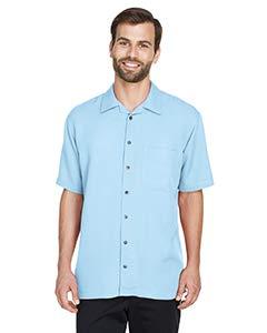 (Ultraclub Mens Cabana Breeze Camp Shirt 8980 -Island Blue XL)