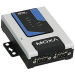 MOXA NPort 6250 2-Port RS-232/422/485 Serial Secure Device Server, 12-48V, w/Adapter by Moxa