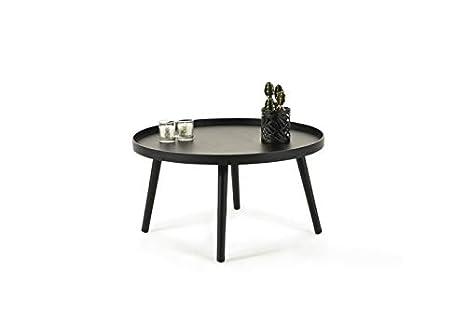 Beistelltisch Stauraum Ø 60 Couchtisch Moderner Runder Tisch Holz Nachttisch