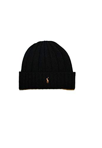 anie Hat Wool Cap Winter Ski Black ()