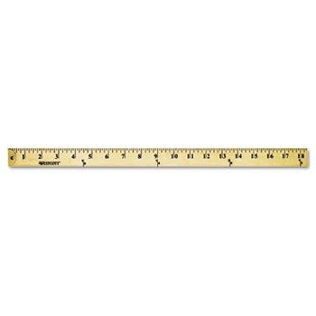 Westcott 10425 Wood Yardstick with Metal Ends, 36