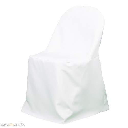 折りたたみ椅子カバー ホワイト 100枚セット B07HMXZGSH