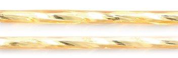 Preciosa Ornela Czech Twisted Bugle Glass Bead, 30mm, Silver Lined, Light Topaz, 80-Gram/Pack