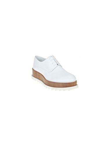 Jil Sander Mujer JS2613903080101 Blanco Cuero Zapatos De Cordones