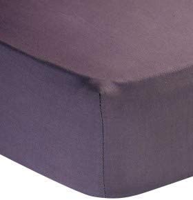 DEEP Pocket WILL FIT ANY MATTRESS UP TO 18 46cm 400 Thread Count Cotton Sateen  SMALL DOUBLE 1 Piece Fitted Sheet Black color Bottom Sheet ONLY