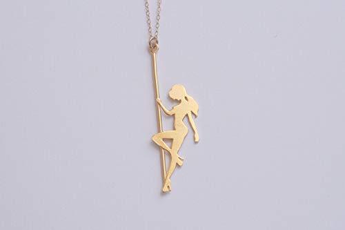Gold Pole Dancer Necklace