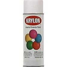 Krylon Paint Interior Exterior Spray (White Interior / Exterior Decorator Spray Paint Semi-Gloss [Set of 6])