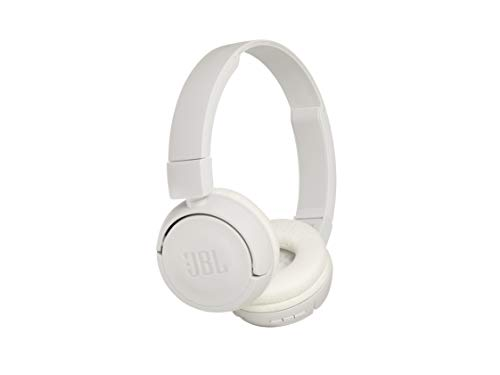 0f92b261214 JBL T450BT in White – Over Ear Bluetooth Wireless Headphones, Compact with  Pure Bass Sound w/ Built-In Microphone