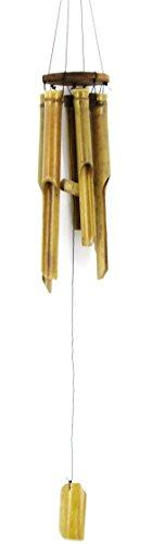 Großes Ca 90cm Windspiel Klangspiel Feng Shui Garten Wetterfest Bambus Fair Trade