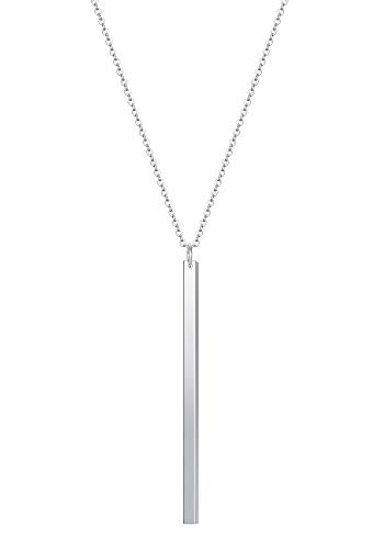 - CULOVITY Simple Bar Pendant Necklace Jewelry Long Lariat Chain for Women 2.4