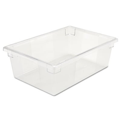 (Rectangular, 12-1/2 Gallon, Clear Polycarbonate Food Tote Box)