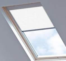 blackout roof skylight blinds for velux ggl gpl ghl white 0008 sys f so6 606 4. Black Bedroom Furniture Sets. Home Design Ideas