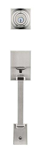 Kwikset 96870-145 Amador Single Cylinder Handleset Featuring Smartkey in Satin Nickel (Exterior Only)