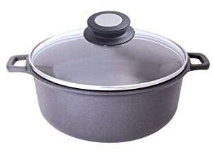 De Buyer Professional 24 cm Choc Extreme Aluminum Non-Stick Scratch Resistant Stewpan with Glass Lid 8311.24