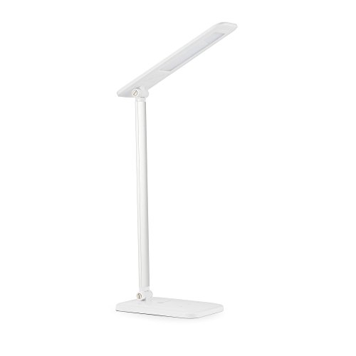 TaoTronics LED Desk Lamp, Dimmable LED Table Lamp, Bedside Lamp, Unfriendly White Reading Light, Eye-caring Book Light (3-Level Dimmer, Touch-Sensitive Control, Night Sprightly, 6W, Glossy White)