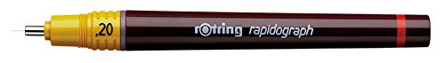 Rotring Rapidograph Technical Drawing Pen Junior Set, 3 Pens with Line Widths of 0.2mm to 0.6mm, Brown (S0699490) by Rotring (Image #1)