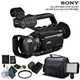 Sony HXR-NX80 Full HD NXCAM with HDR and Fast Hybrid AF (HXR-NX80) with 16GB Memory Card, Extra Battery and Charger, UV Filter, LED Light, Case and More. - Starter Bundle by Mad Cameras
