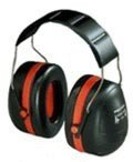 Peltor Over Head Ear Muffs H10a Optime 105, Double Shell Tech, Red/Black,14317