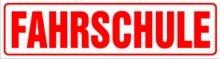 INDIGOS UG Magnetschild Fahrschule 45 x 12 cm Magnetfolie f/ür Auto//LKW//Truck//Baustelle//Firma