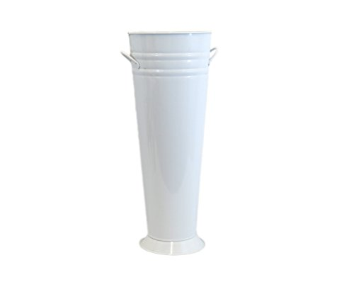 Medium White Enamel French Bucket