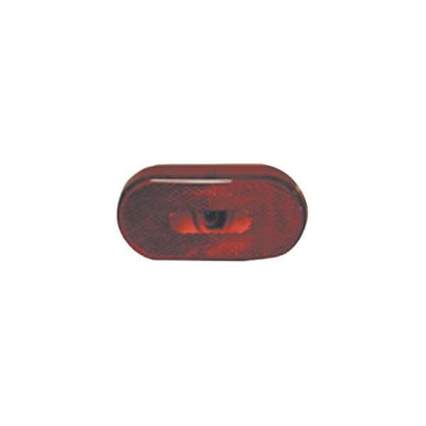Fasteners Unlimited 003-54P 12 V Red Oval Light