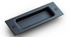 2 Handles // 1 Latch B-Line Black Sliding Barn Door Kit
