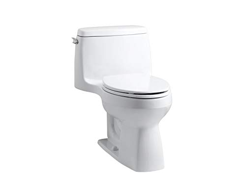 Kohler 3811-0 Santa Rosa Comfort Height Elongated 1.6 GPF Toilet with AquaPiston Flush Technology and Left-Hand Trip Lever, White
