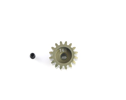 HobbyStar 32DP Pinion Gear, 16T, Hard-Anodized Aluminum, 1/8
