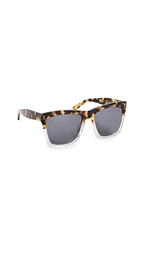 Illesteva Women's Los Feliz Sunglasses, Half Tortoise/Brown, One - Tortoise Illesteva Sunglasses