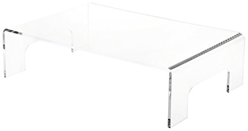 "Plymor Brand Clear Acrylic Riser w/Tray Handles, 4"" H x 15"""