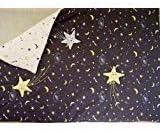 Little Fern SS06001V Starry Night Valance - 2 Sheers 2 Panels